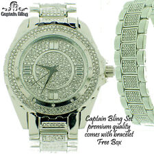 Hip Hop Watch WATCH BY ICE NATION /CAPTAIN BLING WATCH SET  FULL OF ICE -RHD