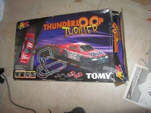 used AFX Set Thunder Loop Thriller Track, missing some parts, not complete