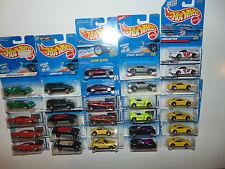 29) DIFFERENT Hot Wheels WHEEL VARIATIONS Blue Card Lexus Vintage Huge Lot Set
