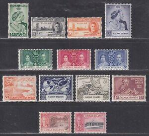 Cayman Islands SG 112//147 Scott 97//134 VF MH King George VI Issues SCV $59.25