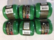 6 x Milford Cotton 4 PLY 50g GREEN #0228 Dye Lot 072894