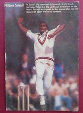 Vtg Sport memorabilia West Indies CRICKET player Milton Small Picture postcard