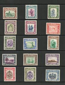 NORTH BORNEO SG 303 -17 GVI 1939 DEFINITIVE SET M/M [NOT HEAVY]