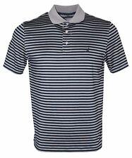 Nautica Men's Classic Fit Short Sleeve Stripe Tech Polo Shirt, Grey Frost Small