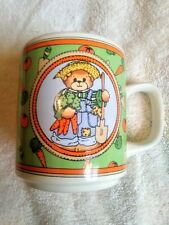 Vtg Lucy & Me Enesco Coffee Mug Bear Gardening Love Makes all Things Grow 1987