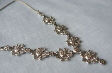 "Necklace 16"" long Sterling Silver & Marcasite"