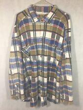 Vintage B.U.M Equipment Shirt Size Large 90's Plaid Flannel Button Up Shirt Rare