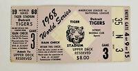 1968 WORLD SERIES GAME 3 TICKET DETROIT TIGERS Rare original - Tiger Stadium