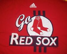 GO BOSTON RED SOX ADIDAS BASEBALL t shirt L celtics new england patriots B2