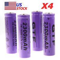 4pcs 14500 3.7V 2300mAh Li-ion Rechargeable Battery For LED Flashlight Torch NEW
