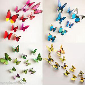 Colourful 3D Butterflies Multi-Size Wall Art, DIY Wall Sticker- HIGH QUALITY