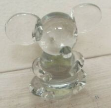 Omnibus Clear Art Glass Mouse Figurine Paperweight Oci