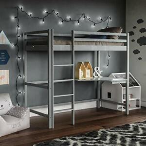 Vida Designs Sydney High Sleeper Bunk Bed, Solid Pine Wood Kids Loft Bed Frame