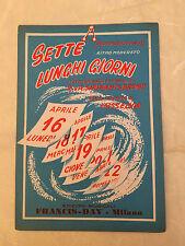 SPARTITO MUSICALE SETTE LUNGHI GIORNI SEVEN LONELY DAYS E.&A. SHUMAN M. BROWN