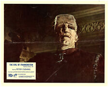 Evil of Frankenstein original Hammer lobby card close up of the creature