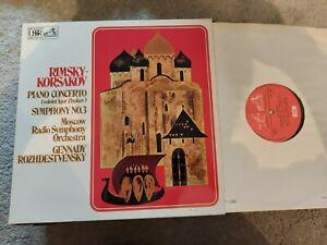 RIMSKY KORSAKOV PIANO CONCERTO No 3 ROZHDESTVENSKY ASD 2846 LP
