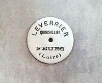 Vintage ancien plaque émaillée rronde publicitaire Quincaillerie Tiroir Boite