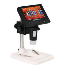 "1000X 4.3""inch Portable LCD Digital Microscope 720P LED Magnifier with Holder"