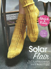 KNITTING PATTERN Colinette Ladies Lace Patterned Ankle Socks PATTERN TO MAKE