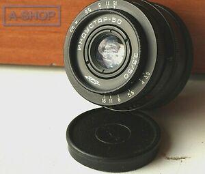 INDUSTAR 50-2 3.5/50 M39/M42 USSR Soviet Russian Lens Vintage Good Condition