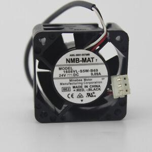 NMB A90L-0001-0575#B 1608VL-S5W-B69 24V 0.09A 3-pin cooling fan