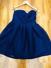 Ladies Tutu Skater Mini Blue Dress Size M Excellent Condition