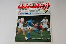 More details for uefa cup final (2nd leg) (1989) stuttgart v napoli programme