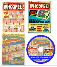 Whoopee Comics 154 issues .pdf  files on DVD Aug. 1974- Dec. 1984