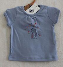 Neuf : Tee-shirt PETIT BATEAU 3 mois bleu petite fille chien pour bébé fille