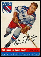 1954-55 TOPPS HOCKEY 41 ALLAN STANLEY EX+ N Y NEW YORK RANGERS CARD FRE SHIP USA