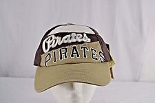 Pittsburgh Pirates Brown/Ivory/Tan Baseball Cap Belt Strap