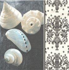 2 Serviettes papier Mer Coquillage Décor Baroque Paper Napkins Shell Pure Charme