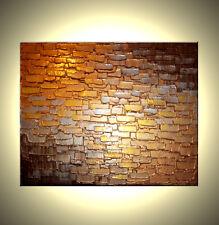 ORIGINAL Gold Bronze Modern ABSTRACT Impasto Fine Art Metallic Textured Painting