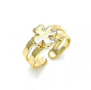 New 9ct  Gold GF adjustable Clover    Design  Toe Ring  JS109