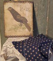 PRIMITIVE ANTIQUE VINTAGE RAVEN CROW BIRD 1828 PRINT ART CANVAS 8 X 10