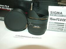 Sigma 15mm F2.8 EX DG NEW Diagonal Fisheye Lens for Canon CAMERAS in FACTORY BOX