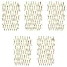 vidaXL 41295 Extendable Wood Trellis Fence Solid Wood - 5 Count