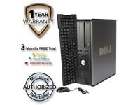 DELL Desktop Computer 755 Core 2 Duo E7600 (3.06 GHz) 4 GB DDR2 320 GB HDD Windo