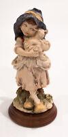 Duncan Royale Art Collection Dekor International - Girl w/ Sheep Lamb