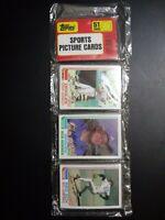 1982 Topps Baseball Rack Pack Bob Horner On Top Kent Hrbek Rookie On Bottom