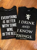 Lot Of 2 Game of Thrones T-shirt Men's Large