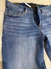 Banana Republic Slim Fit Jeans Men's Size 33 X 30 Blue Distressed Wash NEW