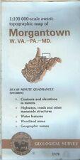 USGS Topographic Map MORGANTOWN West Virginia Pennsylvania Maryland 1979 100K BD