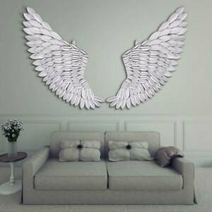 UK 40'' Large Rustic Angel Wing Wall Mount Hanging Art Home Bedroom Living Decor