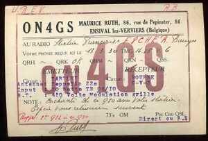 CARD  CARTE  QSL  radio amateur   BELGIQUE      1930   ( 14 )
