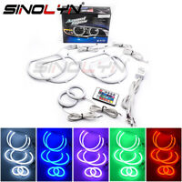 6pc RGB LED Angel Eyes Halo Ring Demon For Dodge Challenger Headlight Fog Light