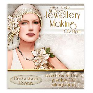 Debbi Moore Designs Art Deco Glitter & Glitz Jewellery Making CD Rom (294210/1)