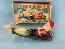 #  Weihnachtsmann Auf Schlitten Made In Japan  In OVP  (65160) Blechspielzeug