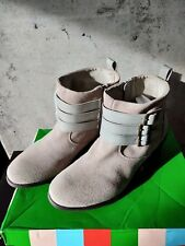 Charles by Charles David 8 Devote beige cream mint booties boots suede combat