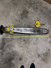 Vintage Mcculloch 2 man chainsaw bar chain helper handle With Transmission Drive